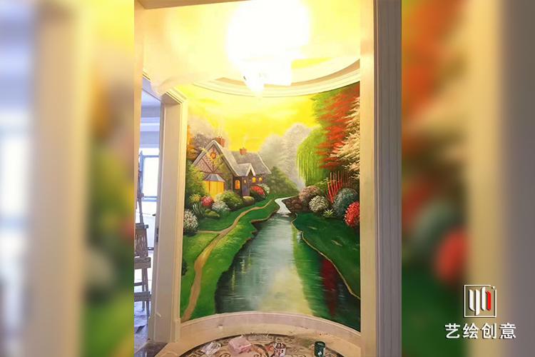公寓墻繪壁畫